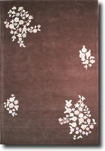 Banaras-Floral 5759-Brown Hand-Tufted Area Rug