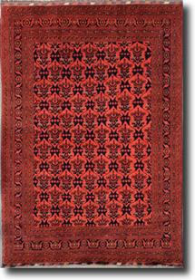 Khal Mohammedi-KZT-70-Red Hand-Knotted Area Rug