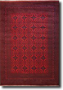 Khal Mohammedi-KM-1001-1-Deep Red Hand-Knotted Area Rug