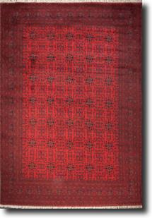 Khal Mohammedi-KM-1003-2-Deep Red Hand-Knotted Area Rug