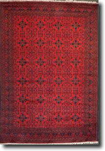 Khal Mohammedi-KM-1007-4-Deep Red Hand-Knotted Area Rug