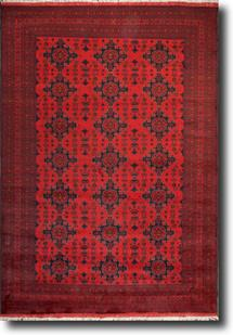 Khal Mohammedi-KM-1008-4-Deep Red Hand-Knotted Area Rug
