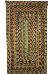 Bear Creek Concentric Rect.-980-150-Wheat Braided Area Rug