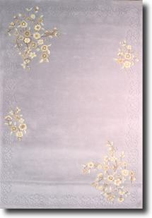 Banaras-Floral 5759-Blue Hand-Tufted Area Rug