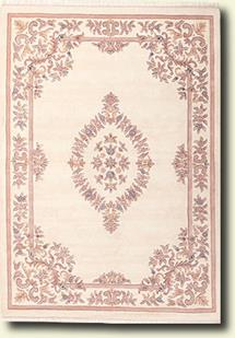 Banaras-133-White White Hand-Tufted Area Rug