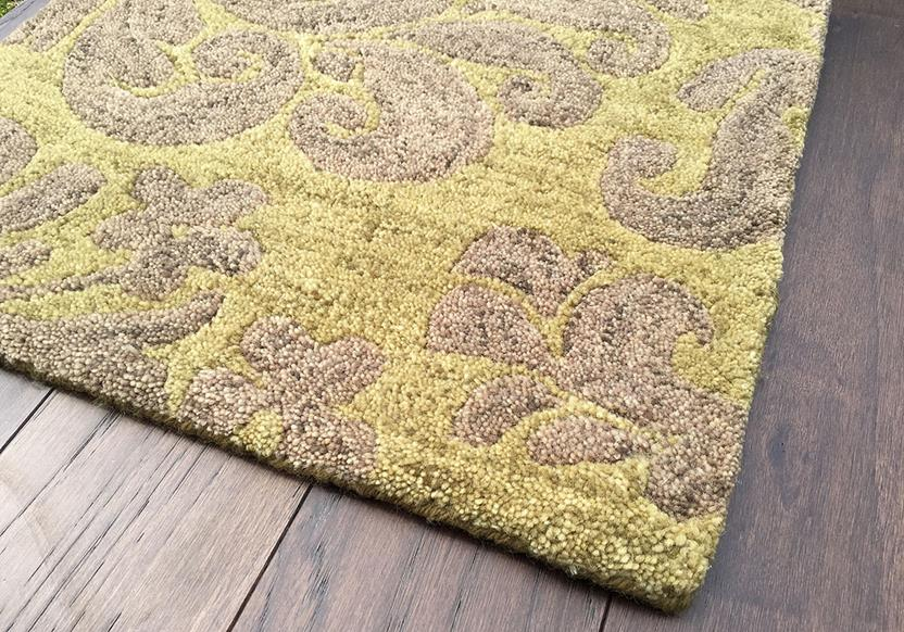 Filigree CP-9225-200-Citron Hand-Tufted Area Rug collection texture detail