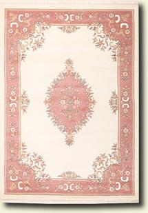 Banaras-133-White Rose Hand-Tufted Area Rug