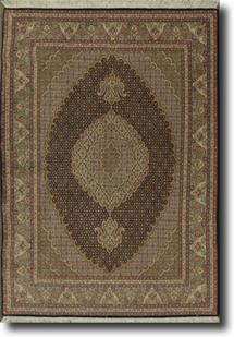 Persian Tabriz-FM-50k-black taupe olive Hand-Knotted Area Rug