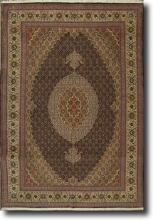 Persian Tabriz-FM-40k-black ivory olive taupe Hand-Knotted Area Rug