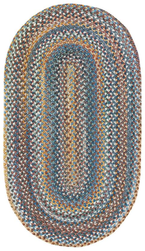 American Legacy Oval-0210-450-Slate Blue Braided Area Rug