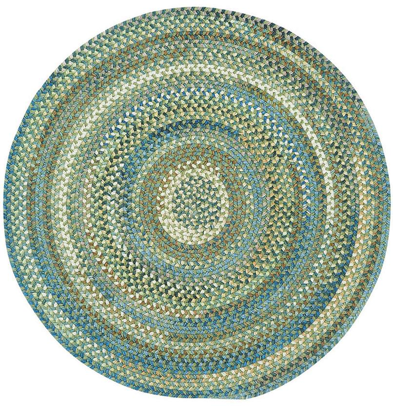 American Legacy Oval-0210-280-Pine Forest Round Braided Area Rug detail