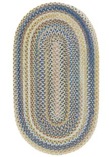 American Legacy Oval-0210-410-Natural Blue Braided Area Rug