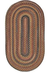 American Legacy Oval-0210-900-Antique Multi Braided Area Rug