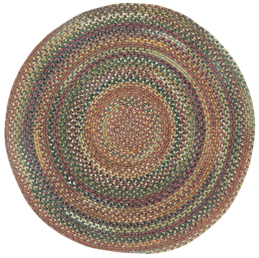 American Legacy Oval-0210-900-Antique Multi Round Braided Area Rug detail