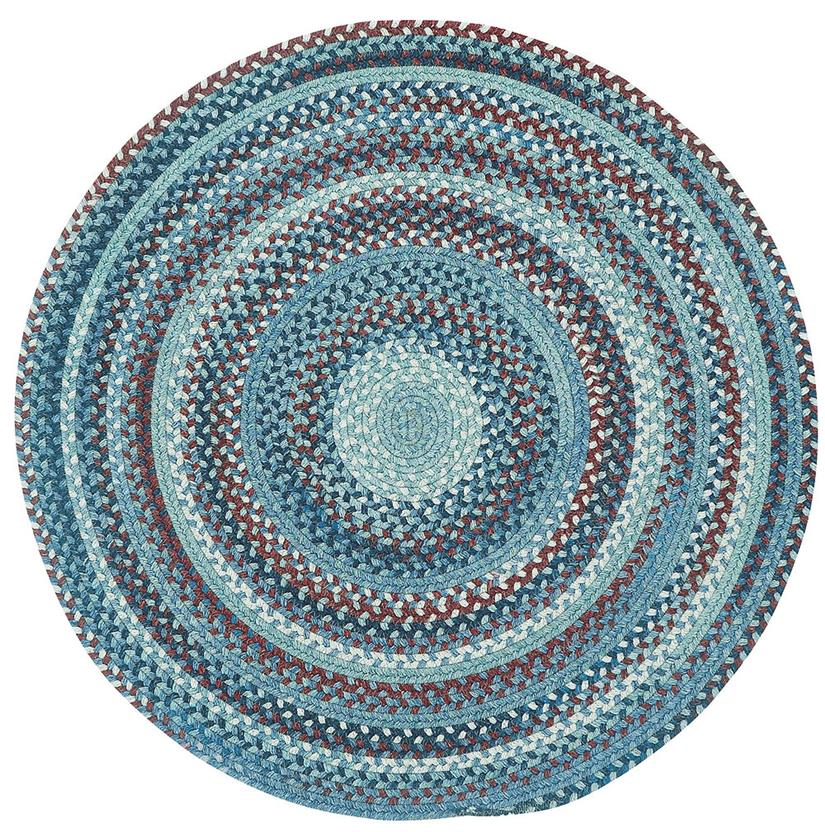 American Legacy Oval-0210-425-Old Glory Round Braided Area Rug detail
