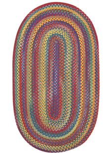 American Legacy Oval-0210-950-Primary Multi Braided Area Rug