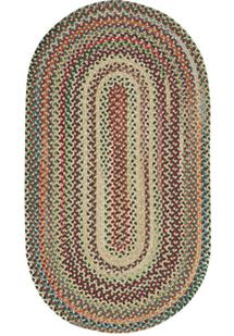 Bear Creek Oval-980-150-Wheat Braided Area Rug
