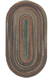Bear Creek Oval-980-225-Sage Braided Area Rug
