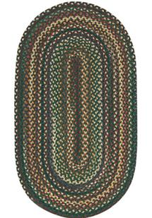 Bear Creek Oval-980-275-Hunter Green Braided Area Rug
