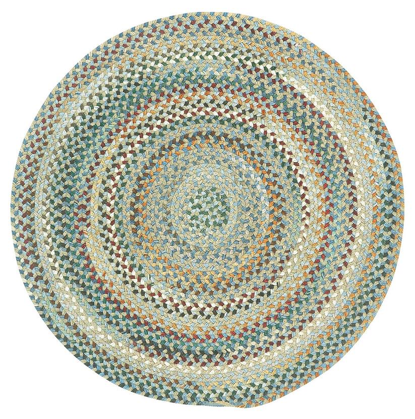 Bear Creek Oval-980-400-Misty Blue Round Braided Area Rug detail
