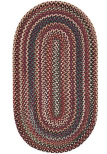 Bear Creek Oval-980-550-Heritage Red Braided Area Rug