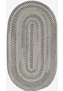 Bear Creek Oval-980-300-Grey Braided Area Rug