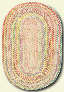 Cutting Garden Oval-0450-150-Buttercup Braided Area Rug