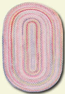 Cutting Garden Oval-0450-510-Tea Rose Braided Area Rug