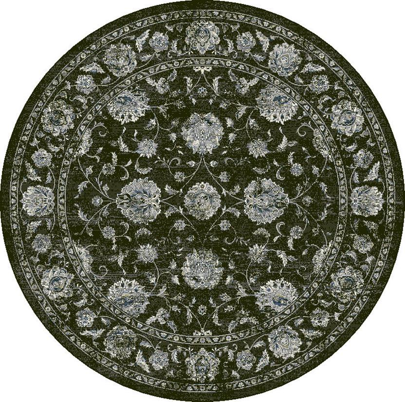 Agra SD-57126-3636 Round Machine-Made Area Rug detail