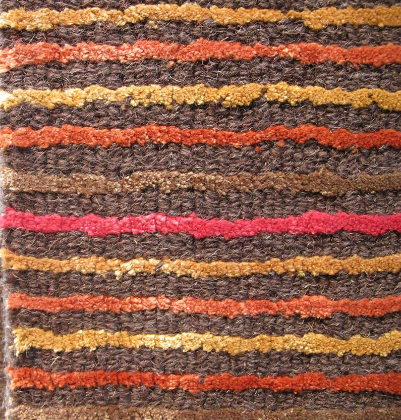 Alfanso-Stripe-Red Hand-Tufted Area Rug collection texture detail