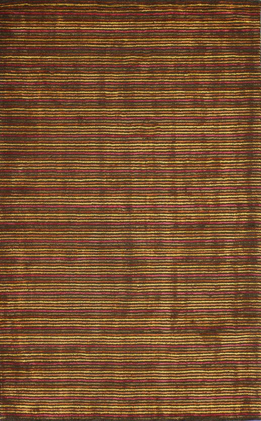 Alfanso-Stripe-Red Hand-Tufted Area Rug