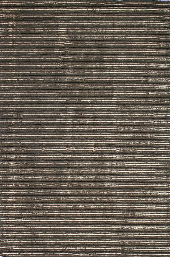 Alfanso-Stripe-Charcoal Hand-Tufted Area Rug