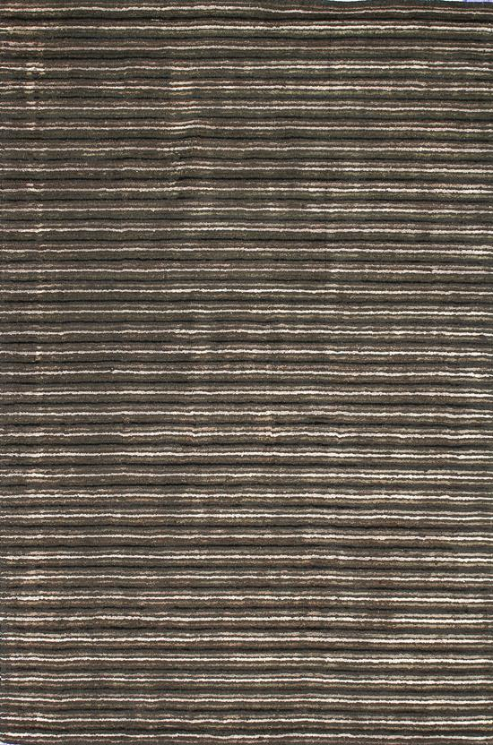 Alfanso-Stripe-Charcoal Hand-Tufted Area Rug collection texture detail