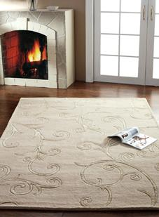 Artisan Studio-Kalinka-57455-Beige Room Lifestyle Hand-Tufted Area Rug detail