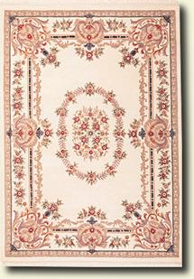Ajmir-381-White White Hand-Tufted Area Rug