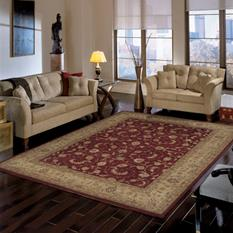Heritage Hall-HE04-LAC Room Lifestyle Hand-Tufted Area Rug detail