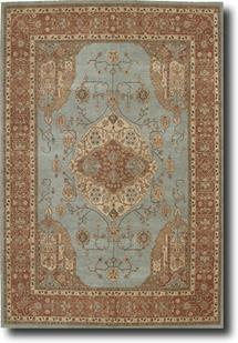 Heritage Hall-HE16-AQU Hand-Tufted Area Rug