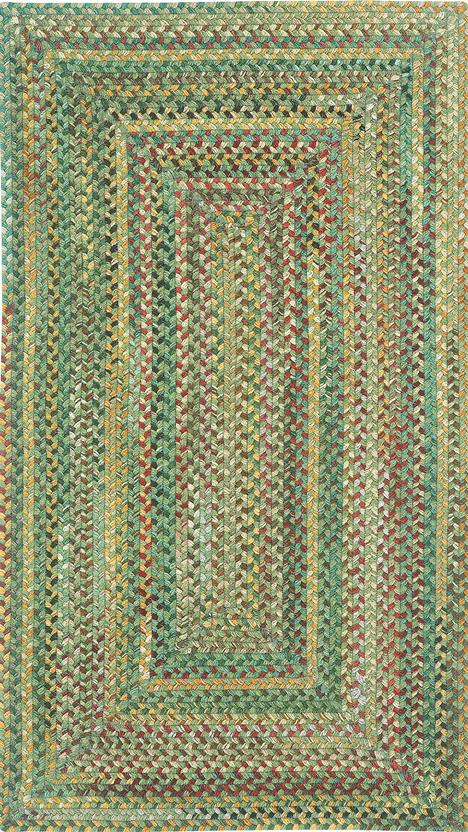 Bear Creek Concentric Rect.-980-225-Sage Braided Area Rug