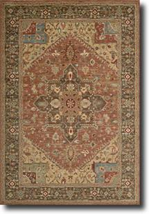 Living Treasures-LI01-RUS Machine-Made Area Rug