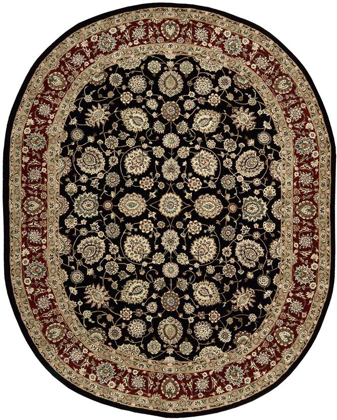 Nourison 2000-2017-BLK Oval Hand-Tufted Area Rug detail