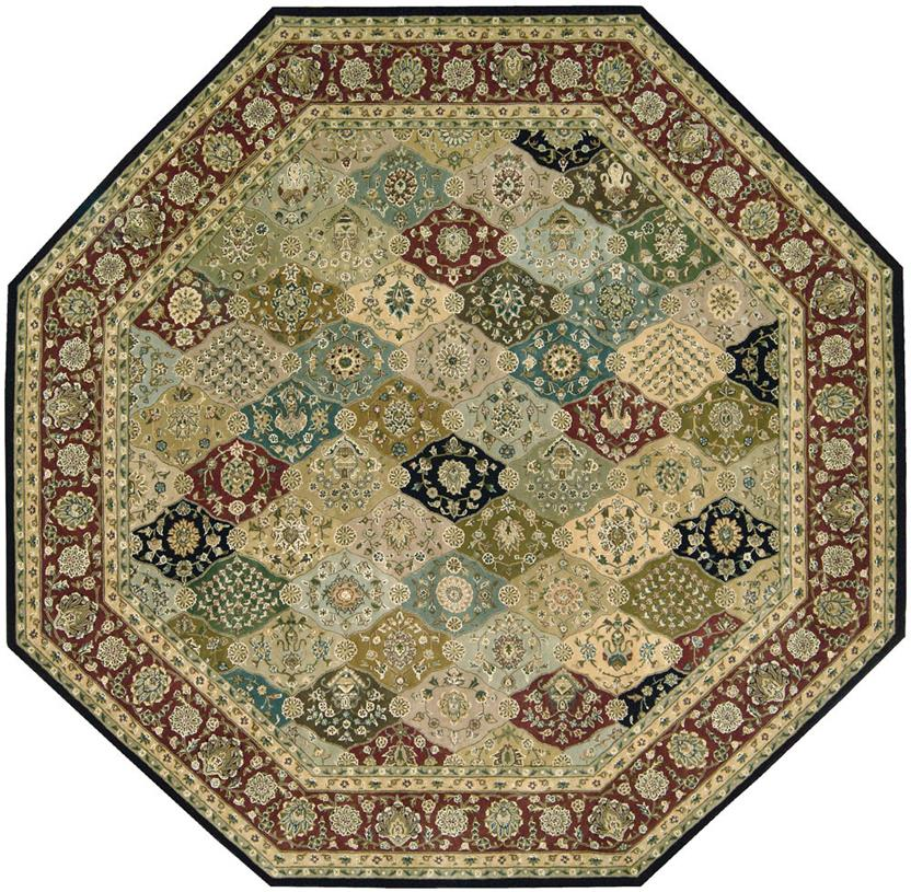 Nourison 2000-2101-MTC Octagon Hand-Tufted Area Rug detail