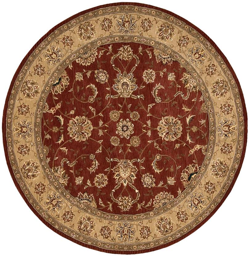 Nourison 2000-2203-BRK Round Hand-Tufted Area Rug detail