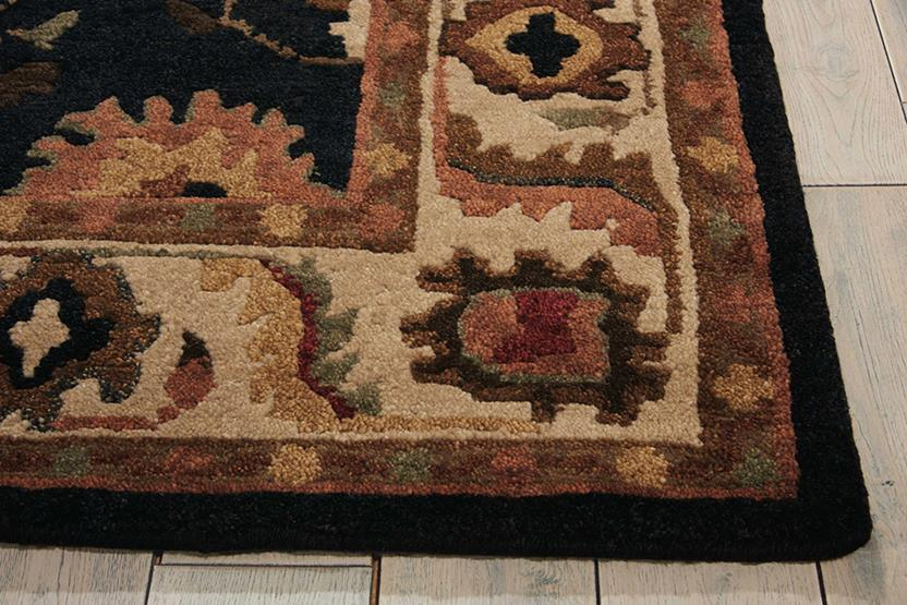 Tahoe-TA08-BLK Hand-Knotted Area Rug collection texture detail