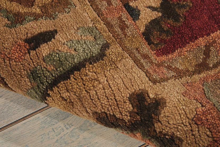 Tahoe-TA08-RED Hand-Knotted Area Rug collection texture detail