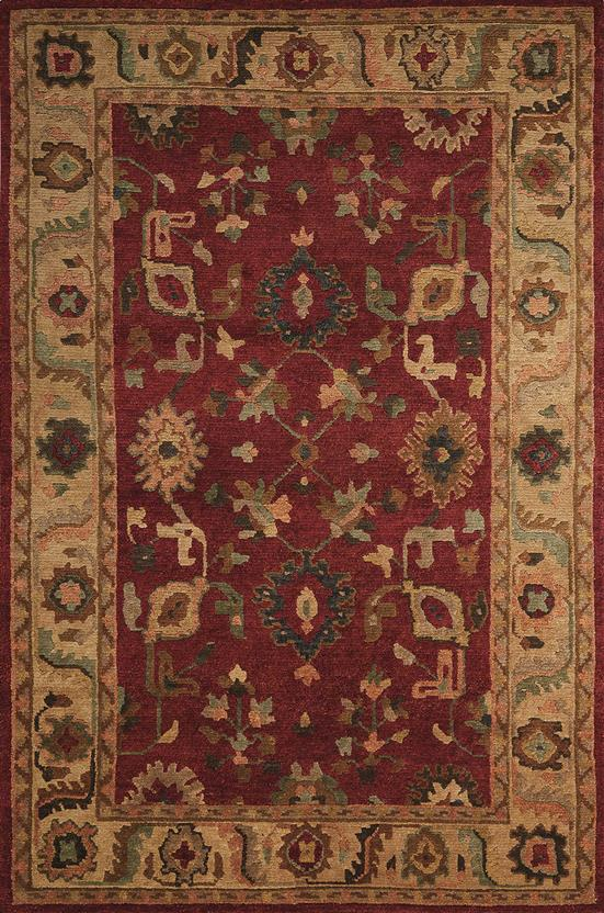 Tahoe-TA08-RED Hand-Knotted Area Rug