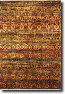 Sari Silk-Sari-05-Multi-Gold Hand-Knotted Area Rug