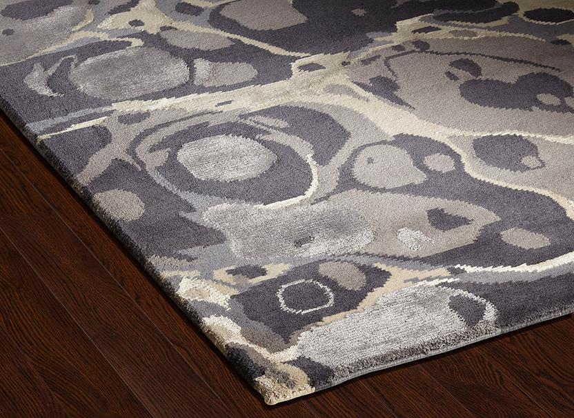 Classic Collection-CF67-Blue Grey Putty  Hand-Knotted Area Rug collection texture detail