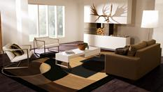 Orbit-231-Multi Room Lifestyle Hand-Tufted Area Rug detail