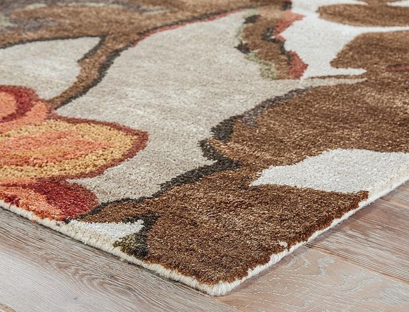 Blue-BL12-Mahogany Apricot Orange Hand-Tufted Area Rug collection texture detail