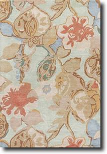 Blue-BL71-Celadon Forget-me-not Hand-Tufted Area Rug